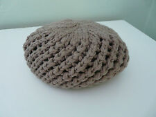 BNWT MONSOON GIRLS BROWN WOOL KNITTED RETRO BERET BOHO HAT SIZE 3-6 YEARS