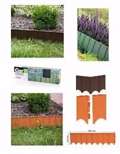 Edge Border Palisade Fence Lawn Garden Edging Fencing Frost Proof Length 5.9m UK