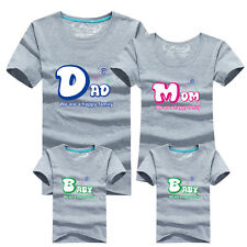 Family T Matching Shirts Mom Dad Vacation Brother Sister Kids Big Little Cotton
