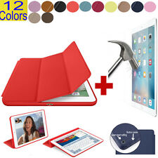Smart Leather Stand Cover case+Screen Protector iPad Mini 1-4 Air 1 2 Pro... Lot
