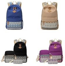 Womens Canvas Backpack School Girl Bag Stylish Travel Rucksack Messenger Sling