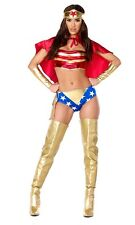Sultry Strength Sexy Hero Adult Womens Costume, Forplay, Wonder Woman, 555261