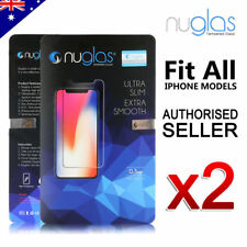 2x GENUINE NUGLAS Tempered Glass Screen Protector for apple iphone 6 6s 7 7 Plus