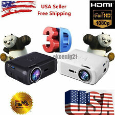 7000 Lumens Full HD LCD 3D VGA HDMI TV Home Theater Projector Cinema US 1080P