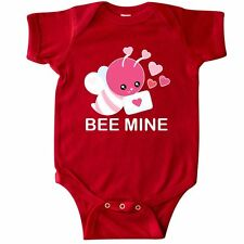 Inktastic Pink Be Mine Valentine's Day Bee With Hearts And Love Infant Creeper