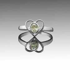 925 Sterling Silver Ring with Unique Green Sapphire Natural Gemstone Handcrafted