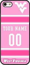 WVU FOOTBALL PINK PHONE CASE COVER WITH YOUR NAME & NO.FOR iPHONE SAMSUNG LG HTC