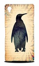PENGUIN WATERCOLOR ART  HARD CASE COVER FOR SONY XPERIA Z1 L39H