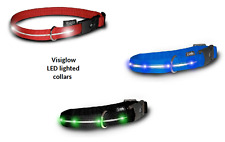 Visiglo Nylon Dog Collar with LED Lights -All sizes All colors