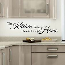 Wall Quote The Kitchen Is The Heart Of The Home Vinyl Sticker Art Mural Home Dec