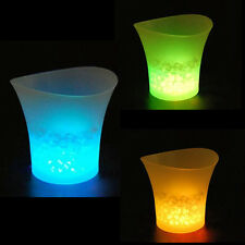 5L LED Ice Bucket Color with Light Change Flashing Cool Bars Night PartyAW