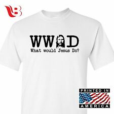 WWJD WHAT WOULD JESUS DO CHRISTIAN T-SHIRT Religious Shirt Tee Sm - 3XLg