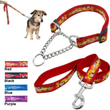 Martingale Pet Dog Training Collar and Leash Nylon Choke Chain for Dogs M L XL