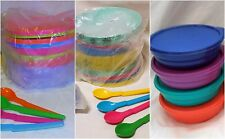 BNIP TUPPERWARE TUPPERCARE EVERYDAY BOWLS & BONUS SPOONS (choice of colours)