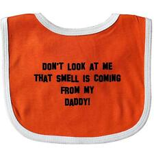Inktastic Don't Look At Me That Smell Is C Baby Bib Daddy Funny Poo Poop Dad Hot