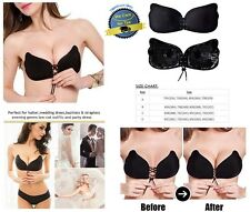 Sculpting Lace Up Push Strapless Cleavage Boosting Breast Lift Bra Backless Bras