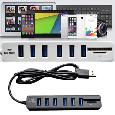 2In1 High Speed 6-Port USB 2.0 Hub Comb SD/TF Card Reader For Laptop Computer EH