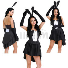 Adult Ear Bunny Girl Rabbit Women Cosplay Halloween Costume Party Fancy Dress