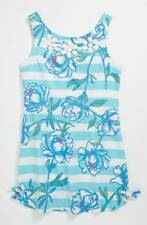NEW Lilly Pulitzer GIRL Little DELIA DRESS Shorely Blue Tossing The Line BEADS 8