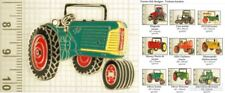 Tractor-themed decorative fobs, various designs & keychain options