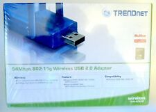 NEW-SEALED TRENDnet TEW-424UB 54Mbps 802.11g Wireless USB 2.0 Adapter