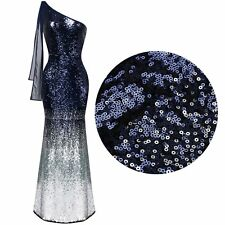 Formal Women Sequins One Shoulder Evening Cocktail Party Mermaid Maxi Long Dress