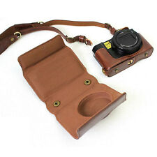 PU Leather Camera Case Bag for Panasonic LUMIX LX10 DMC-LX10 with Shoulder Strap