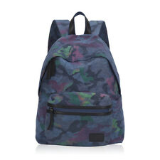 Fuchsia Blue Camouflage Women Backpack Girl Fashion Canvas Campus Daily Rucksack