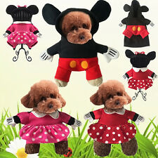 Pet Dog Cat Halloween Costume Minnie Mickey Mouse Coat Fancy Dress Party Clothes