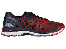 NEW MENS ASICS GEL-NIMBUS 19 RUNNING SHOES TRAINERS PEACOAT / RED CLAY
