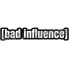 JDM Bad Influence Style B Brackets Vinyl Sticker Decal - Choose Color