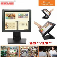 """15""""/17'' inch Touchscreen LCD VGA POS Touch Screen Monitor Stand Retail Kiosk EA"""