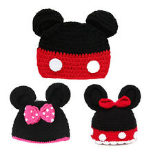 Baby Girls Boys Crochet Knit Beanie Hat Costume Photo Photography Props Minnie