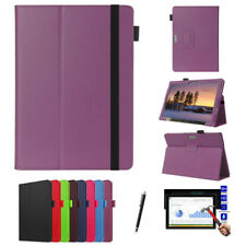 Leather Folding Tablet Case + Screen Protector For Microsoft Surface Pro 4 12.3