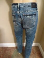 NEW BIG STAR MENS JEANS DISTRESSED FADED WHISKERING TAPERED SIZE 31/32