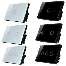 1 Way Wall Touch Panel Light Switch Crystal Glass Lamp Light Switch- 1/2/3 Gang