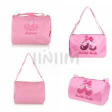 Girls Kids Cute Pink Ballet Dance Bag Luggage Bag Hand Bag Tote Bag Shoulder Bag