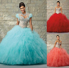 NEW Hoting Beaded Quinceanera Dresses Bridal Ball Gown Pageant Prom Dress Custom