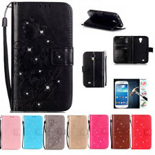 Embossed Leather Flip Stand Card Wallet Case Cover Skin For Samsung Cell Phones