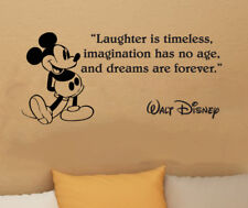 Disney Mickey Mouse Laughter Is Timeless wall quote vinyl wall decal sticke