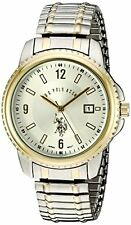 U.S. Polo Assn. Classic USC80051 Mens Two-Tone Analogue Silver Dial Expansion