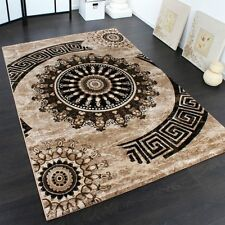 Small Large Rug Modern Classic Design Rugs Beige Ornaments Soft Quality Mats NEW