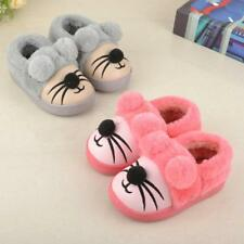 Children Cotton Winter Home Slippers Indoor Cartoon Mouse Wool Plush Warm Shoes