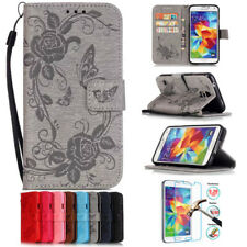 Butterfly Flower Stand Wallet Leather Flip Case Cover For Samsung GalaxyS5 S6 S7