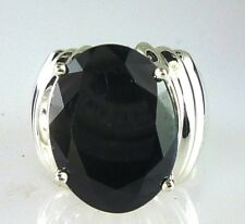 Genuine Very Large Oval Midnight Blue Sapphire Ring 925 Sterling Silver 16X12mm