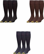 Gold Toe Men's Metropolitan Over-the-Calf Dress Socks, 3 Colors, 3 Pairs
