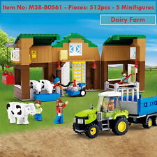 DIY Building Blocks - SUNNY Town  - Dairy Farm - P512 - 5 Minifigures