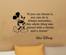 Disney Mickey Mouse If you can dream it wall quote vinyl wall decal sticker