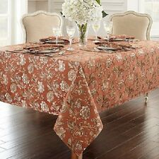 "WATERFORD LINENS TABLECLOTH WILLIAMSBURG 70 OR 90"" ROUND  COPPER NIB!"