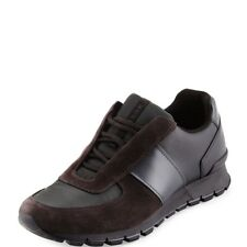 NEW PRADA MENS SUEDE LACE-UP SNEAKER